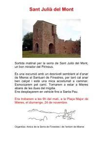 Cartell excursió Sant Julià del Mont